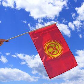 Kyrgyzstan Hand Waving Flag