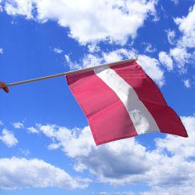 Latvia Hand Waving Flag