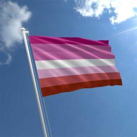 Lesbian Stripes Flag 5ft X 3ft
