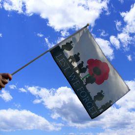 Lest We Forget Hand Waving Flag
