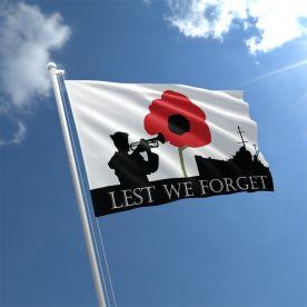 Lest We Forget Navy Flag