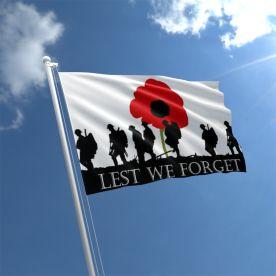 Lest We Forget Flag - Nylon