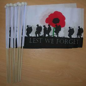 Lest We Forget Small Hand Flags