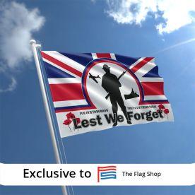 Lest We Forget Union flag