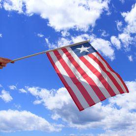 Liberia Hand Waving Flag