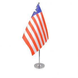 Liberia table flag satin
