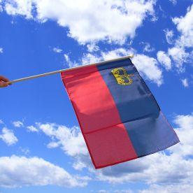 Liechtenstein Hand Waving Flag