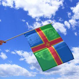 Lincolnshire Hand Waving Flag