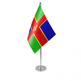 Lincolnshire table flag satin
