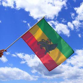 Ethiopia Lion Of Judah Hand Waving Flag
