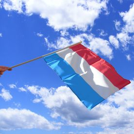 Luxembourg Hand Waving Flag