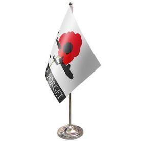 Lest We Forget RAF Table Flag Satin