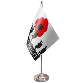 Lest We Forget Table Flag Satin