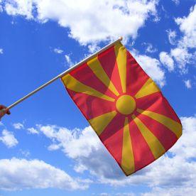 Macedonia Hand Waving Flag