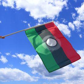 Malawi Hand Waving Flag