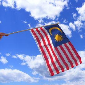 Malaysia Hand Waving Flag