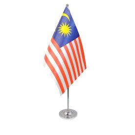 Malaysia table flag satin