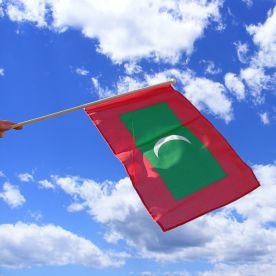 Maldives Hand Waving Flag