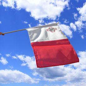 Malta Hand Waving Flag