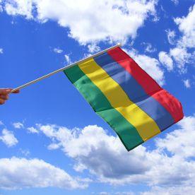 Mauritius Hand Waving Flag