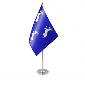 Merionethshire table flag satin