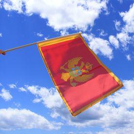 Montenegro Hand Waving Flag