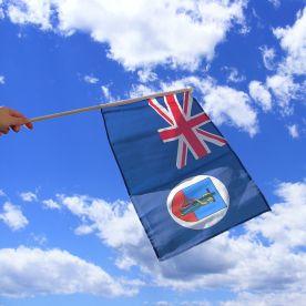 Montserrat Hand Waving Flag