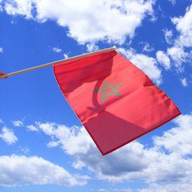 Morocco Hand Waving Flag
