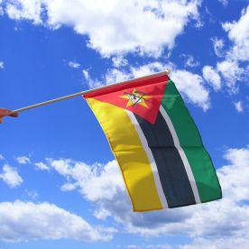 Mozambique Hand Waving Flag