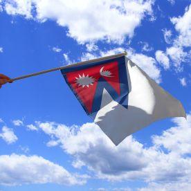 Nepal Hand Waving Flag