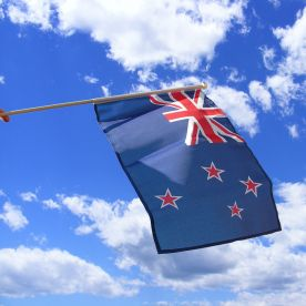 New Zealand Hand Waving Flag