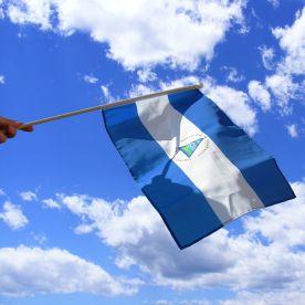 Nicaragua Hand Waving Flag