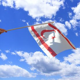 Northern Cyprus Hand Waving Flag