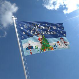 Santa North Pole Flag