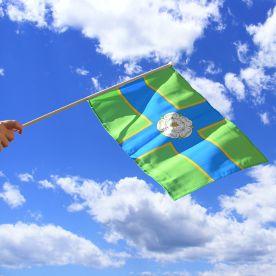 North Riding Hand Waving Flag