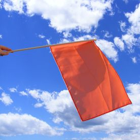 Orange Hand Waving Flag