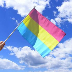 Pansexual Hand Flag