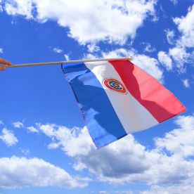 Paraguay Hand Waving Flag
