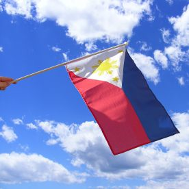 Philippines Hand Waving Flag