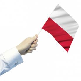 Poland Hand Flags (Pack Of 12)