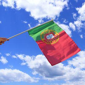 Portugal Hand Waving Flag