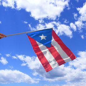 Puerto Rico Hand Waving Flag