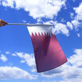 Qatar Hand Waving Flag