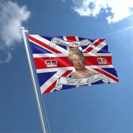 Queen Elizabeth 90th Birthday Flag 5ft x 3ft