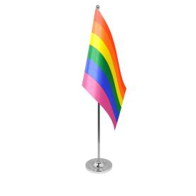 LGBT table flag satin
