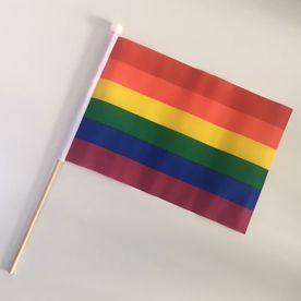 Small LGBT hand flag