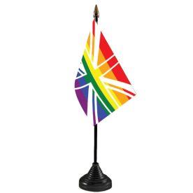 Union Jack Rainbow Table Flag Budget