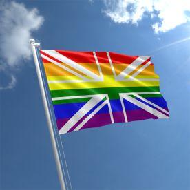 Union Jack Rainbow Flag
