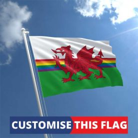Custom Wales Rainbow Flag