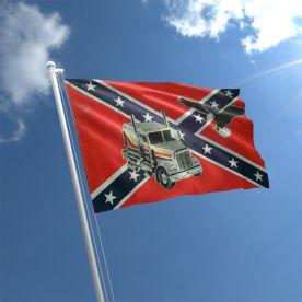 Truck Eagle Confederate Flag